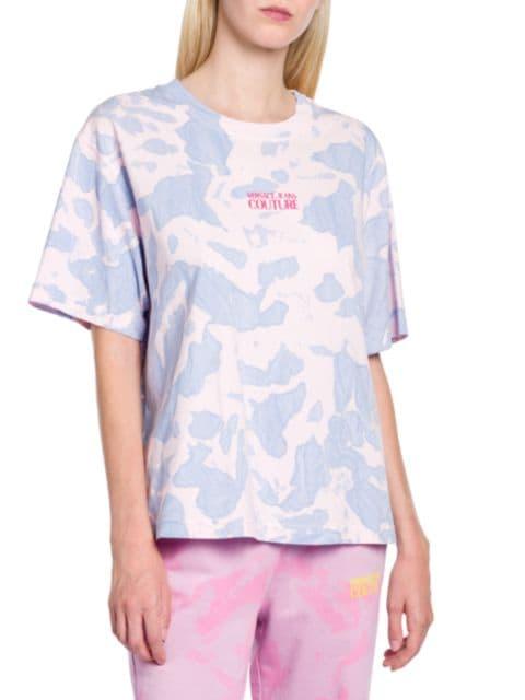 Versace Jeans Couture Tie-Dye Logo T-Shirt   SaksFifthAvenue