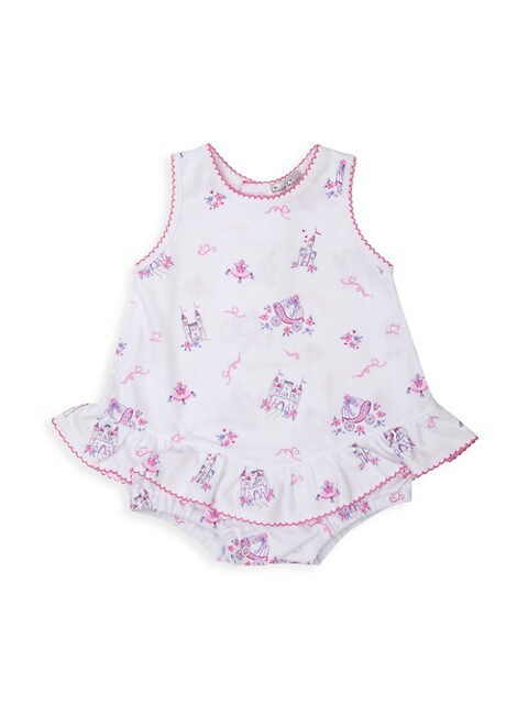 Baby Girl's Castle Couture Print Bubble