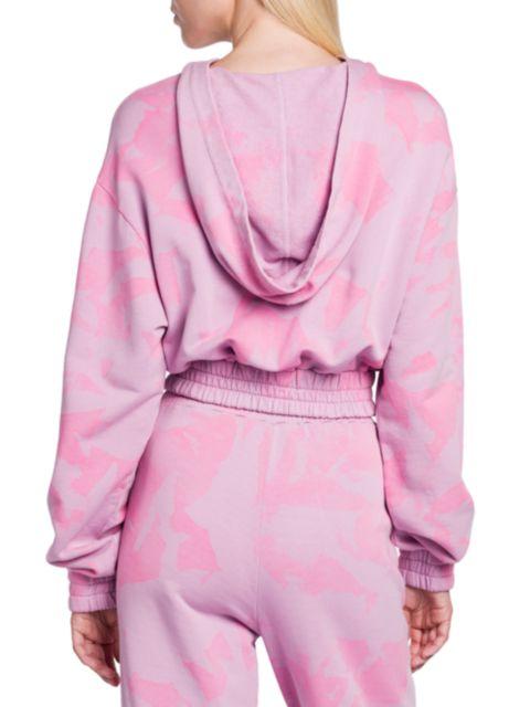 Versace Jeans Couture Tie-Dye Cropped Sweatshirt   SaksFifthAvenue