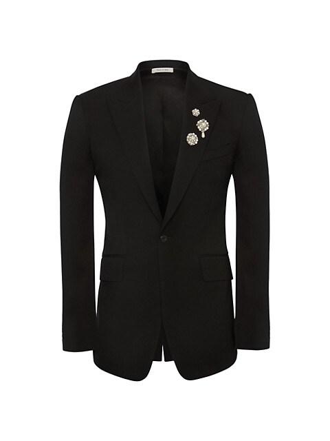 Embellished Detail Tuxedo Jacket