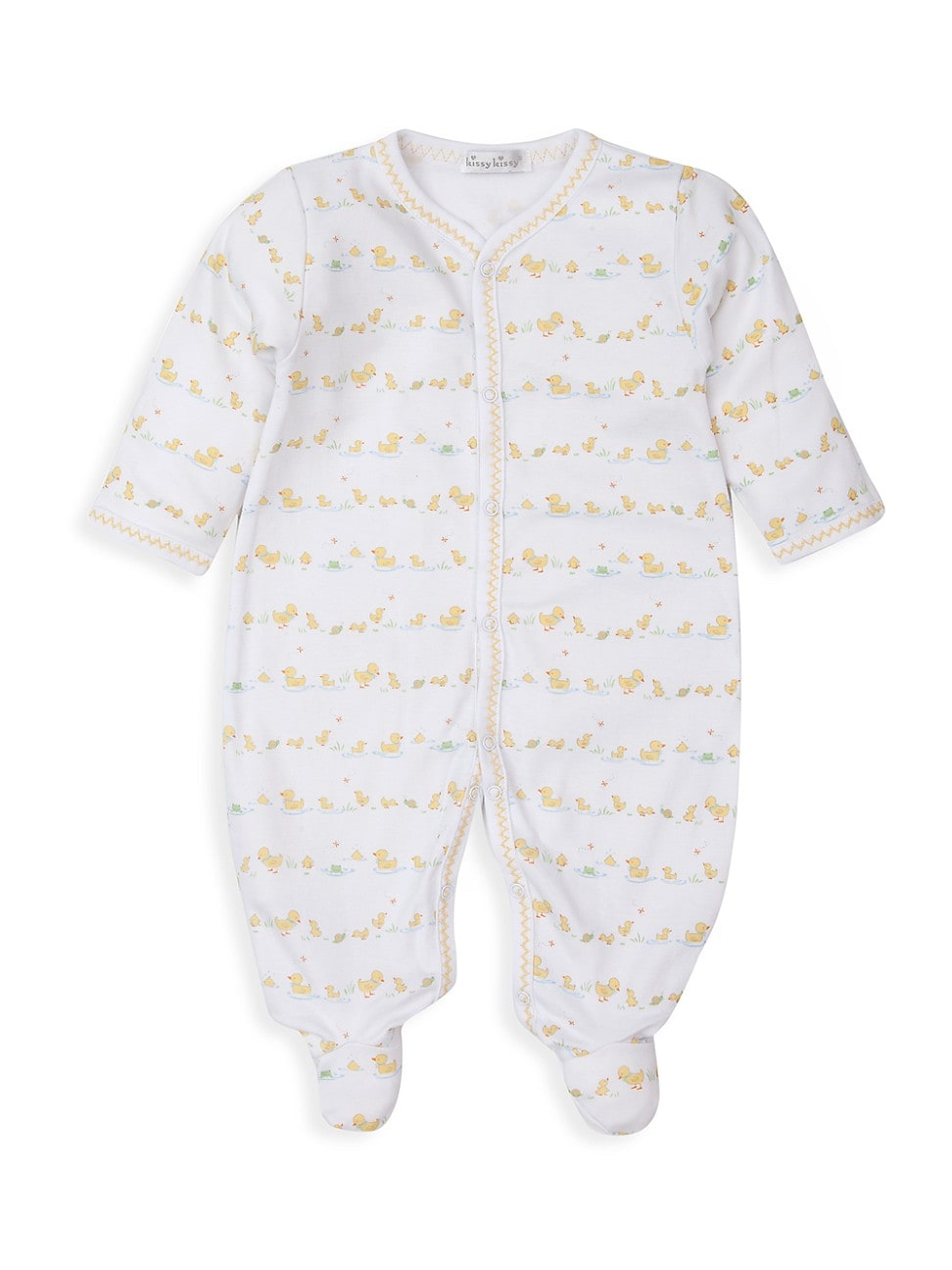 Kissy Kissy Cottons BABY'S DILLY DALLY DUCKIES PRINT FOOTIE