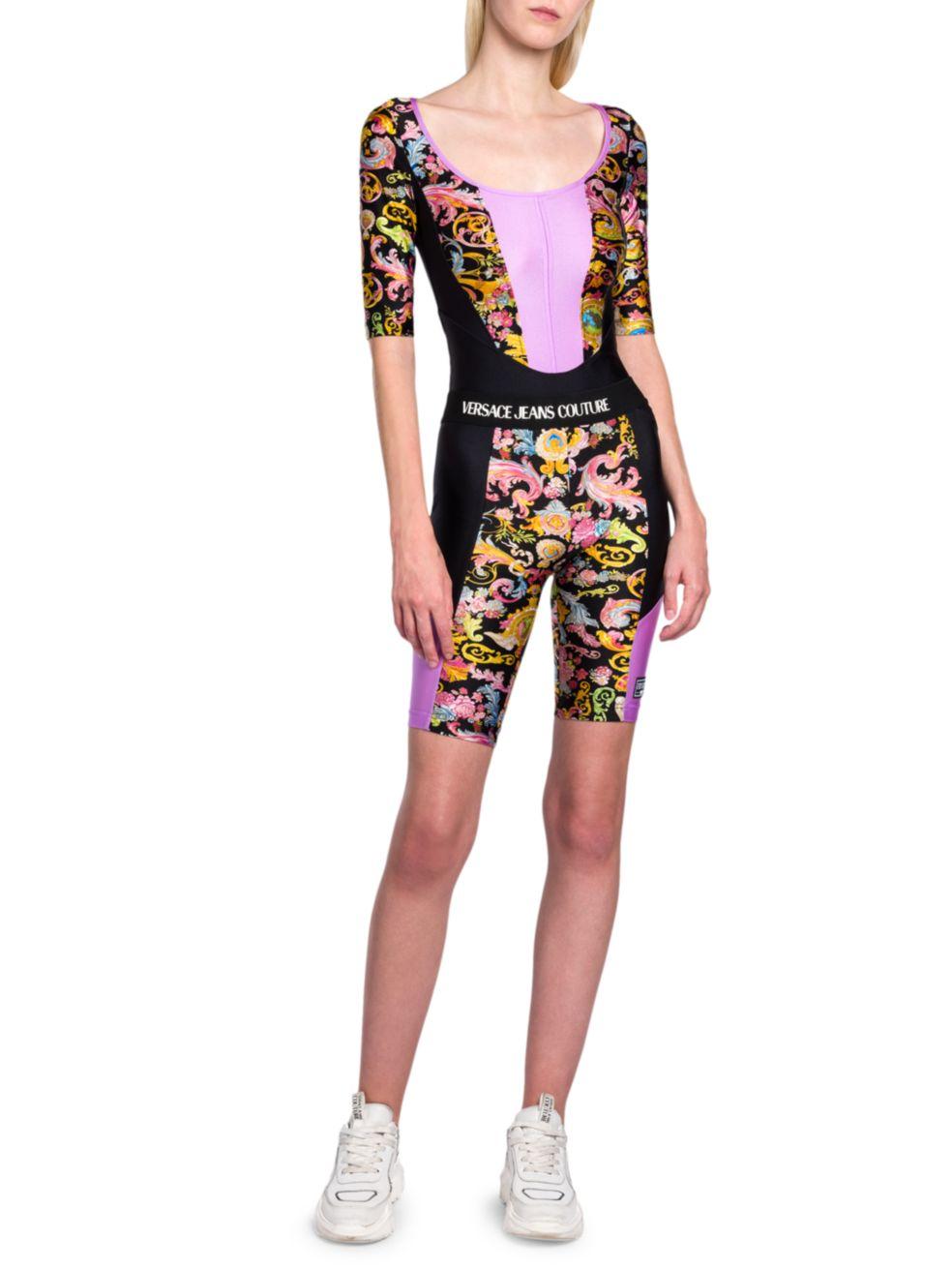 Versace Jeans Couture Colorblock Printed Bodysuit | SaksFifthAvenue