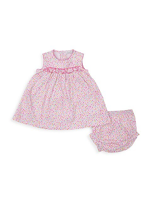 Baby Girl's Unicorn Gardens 2-Piece Print Dress & Bloomers Set