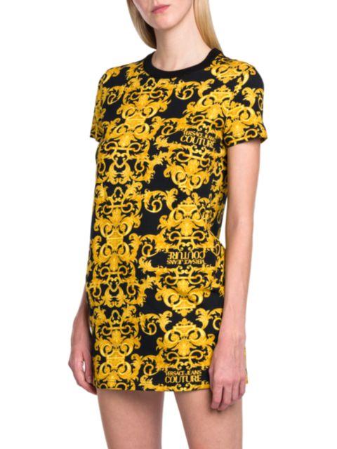 Versace Jeans Couture Logo Baroque T-Shirt Dress | SaksFifthAvenue