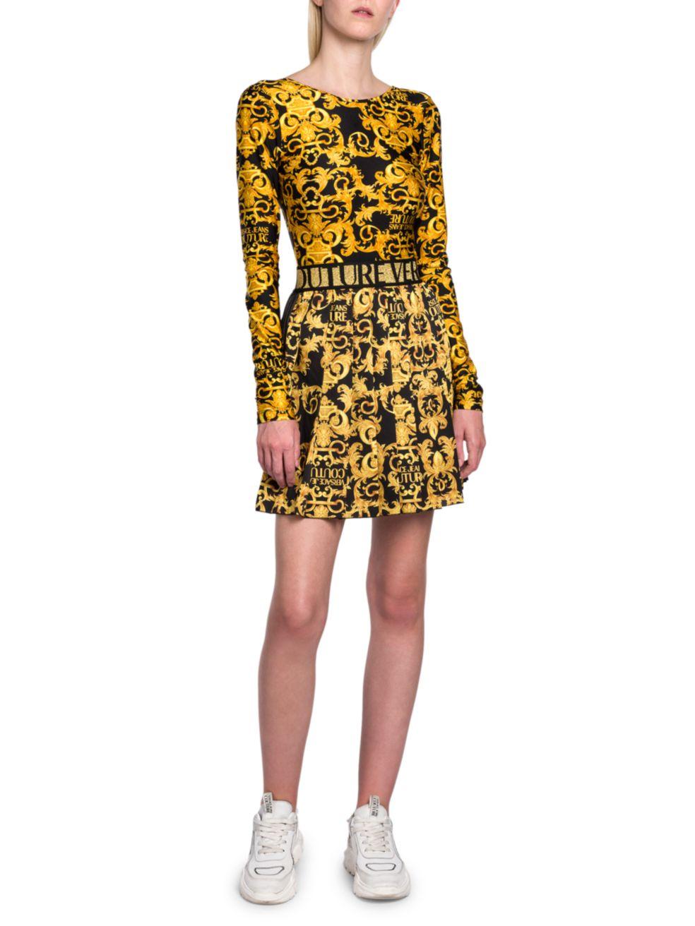 Versace Jeans Couture Logo Baroque Bodysuit | SaksFifthAvenue