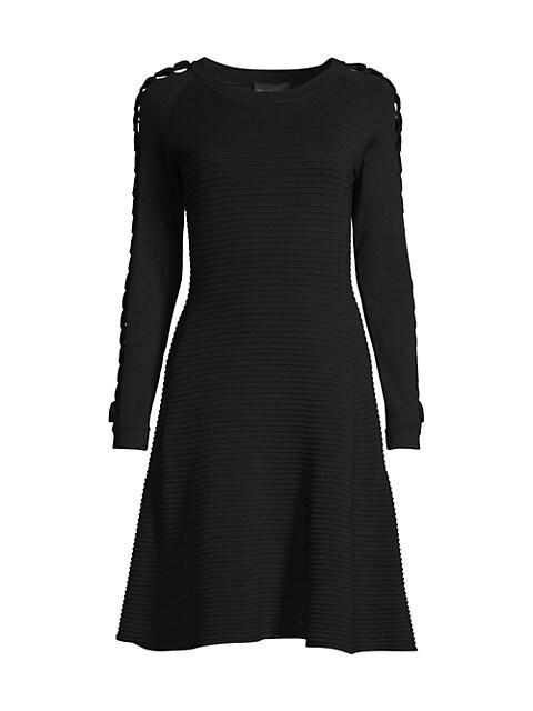 Ribbed Cutout Knit Dress