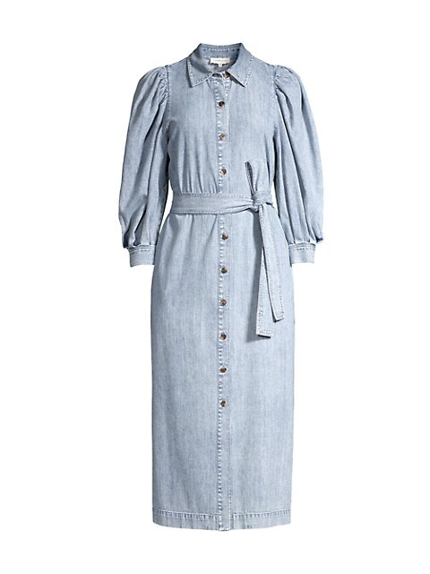 Mia Denim Midi Shirtdress