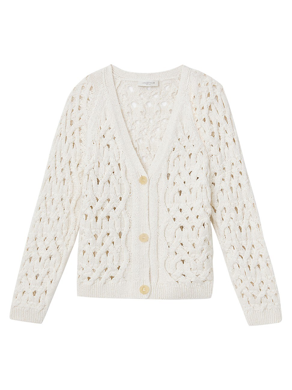 Lafayette 148 WOMEN'S CABLE KNIT BUTTON-UP CARDIGAN