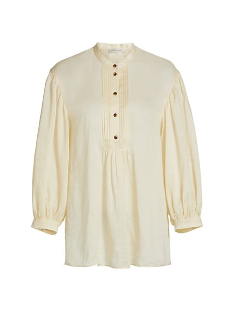 Brimley Pintuck Pleated Blouse