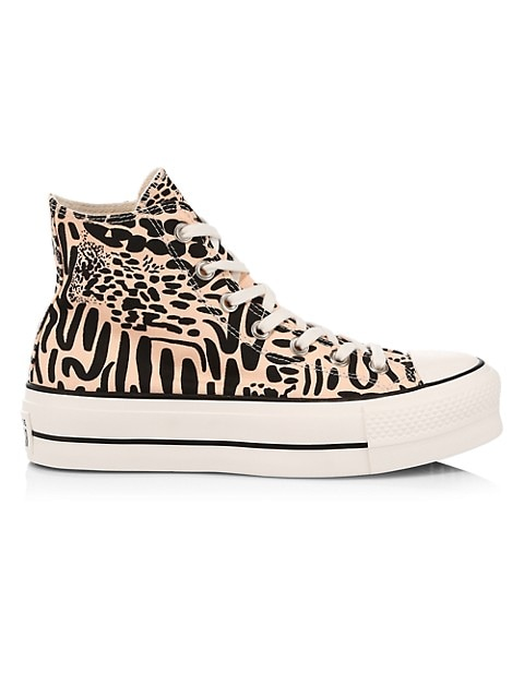 Jungle Art Chuck Taylor All Star Canvas Platform High-Top Sneakers