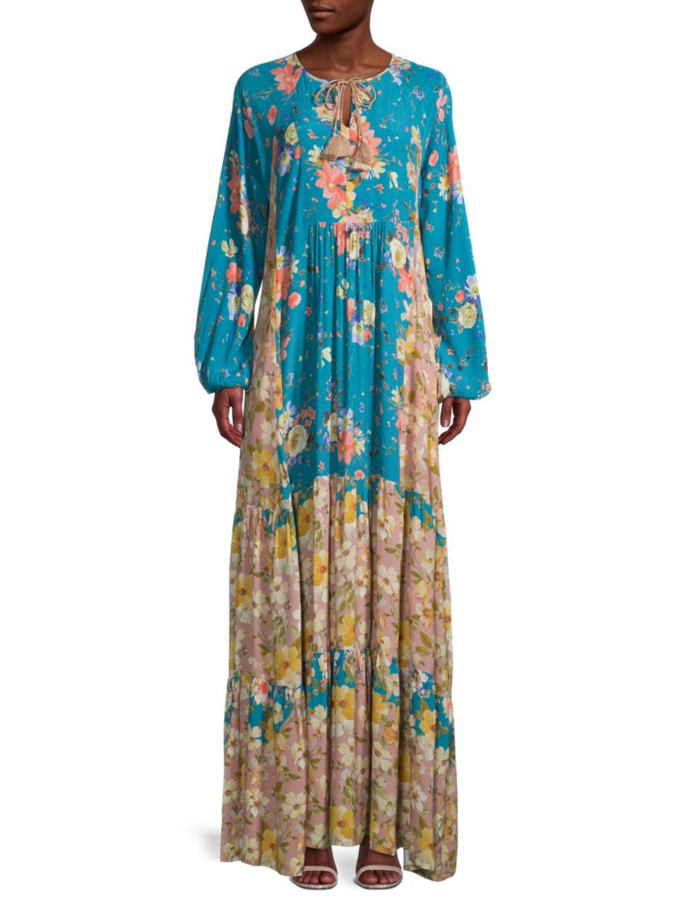 Johnny Was Penelope Floral Tunic Maxi Dress   SaksFifthAvenue