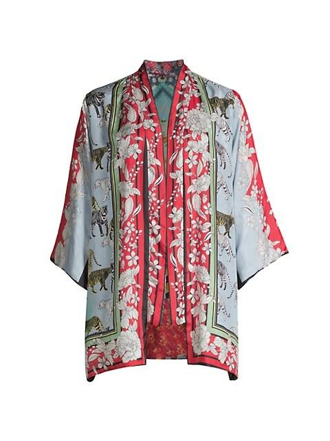 Aimee Reversible Silk Kimono