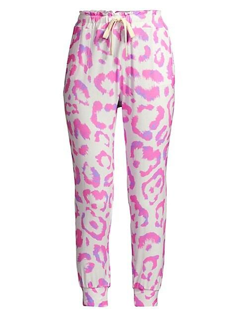 Leopard-Print Lounge Pants