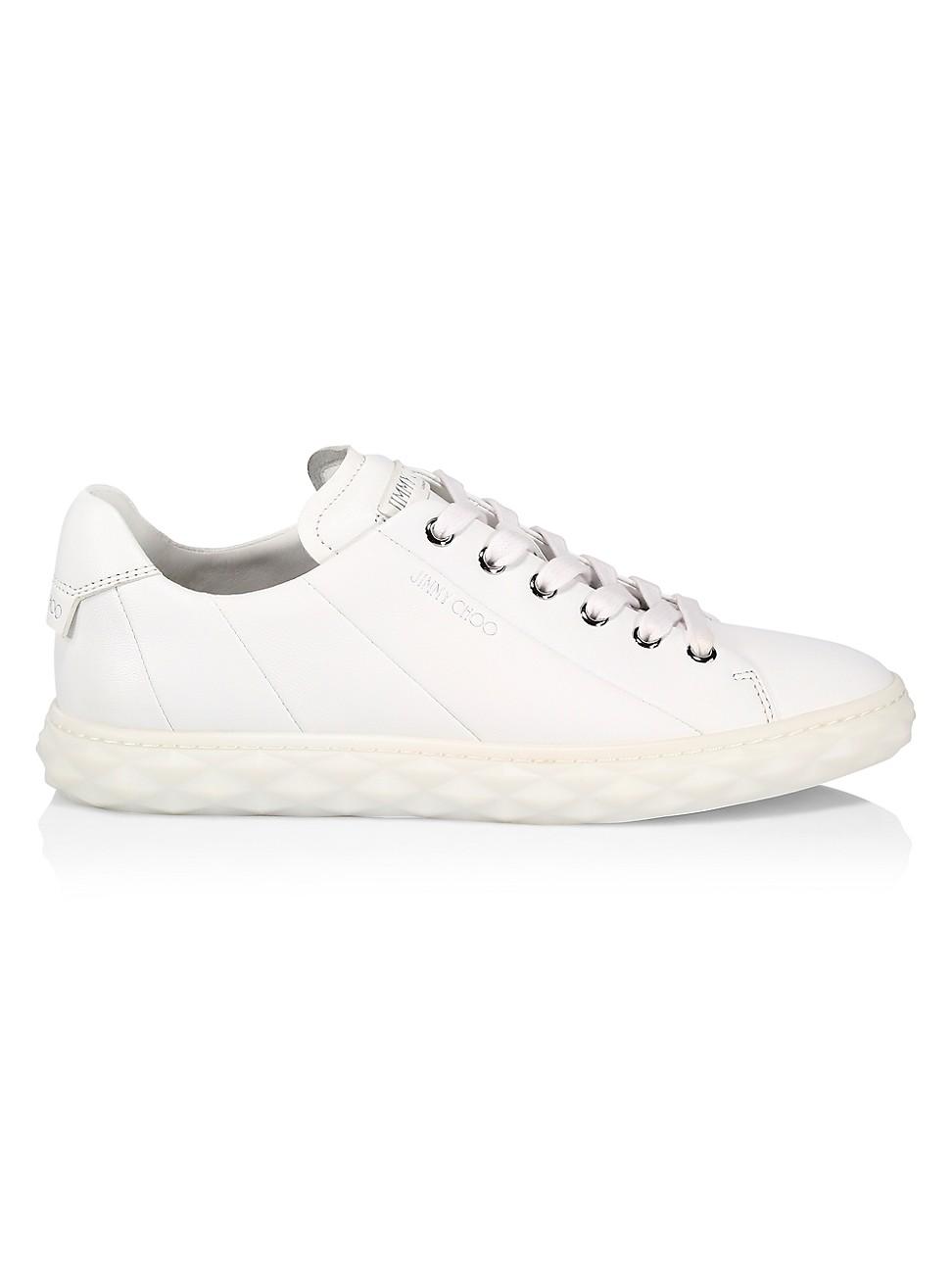 Jimmy Choo Sneakers WOMEN'S DIAMOND LEATHER SNEAKERS