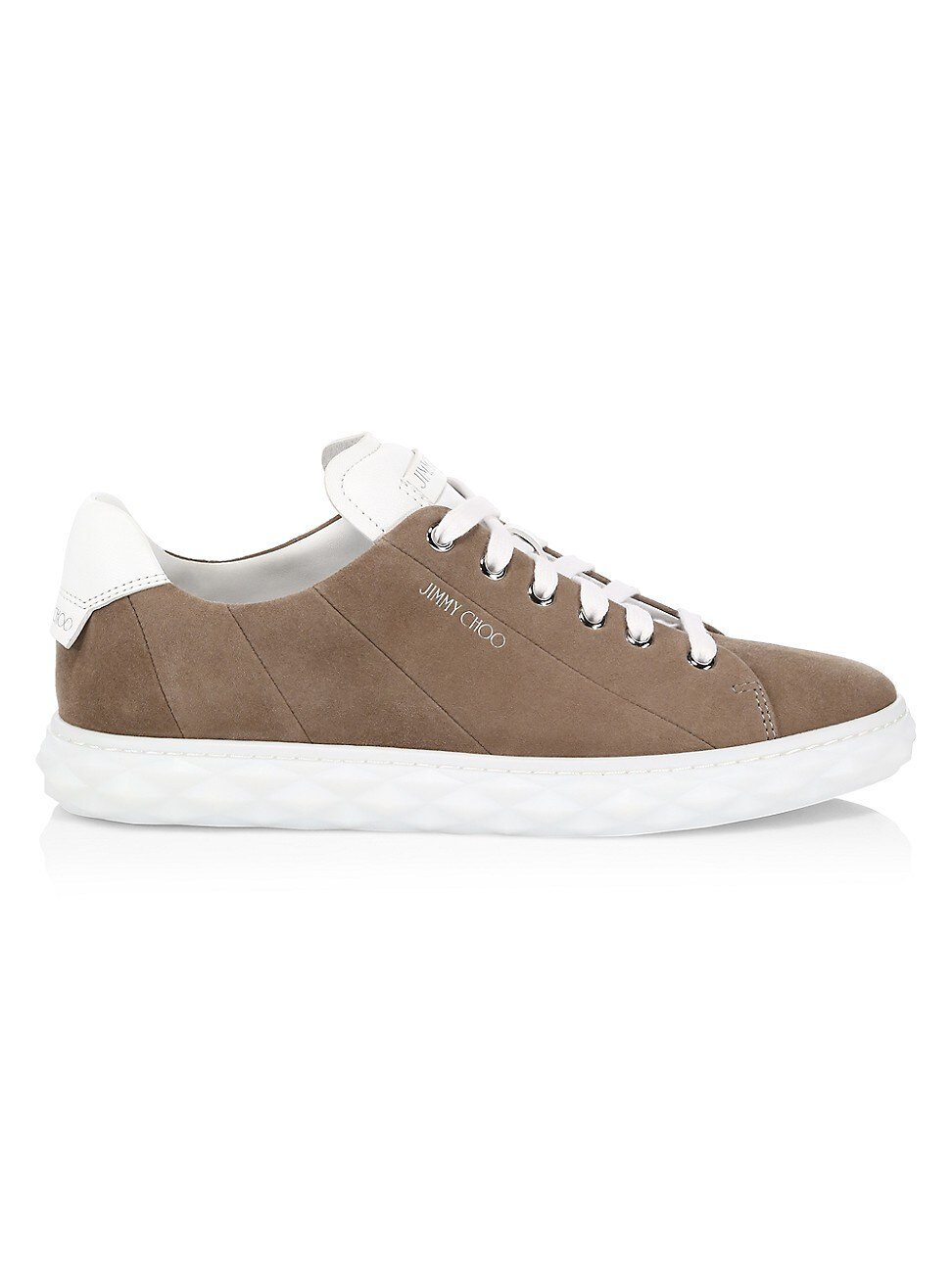 Jimmy Choo WOMEN'S DIAMOND SUEDE SNEAKERS