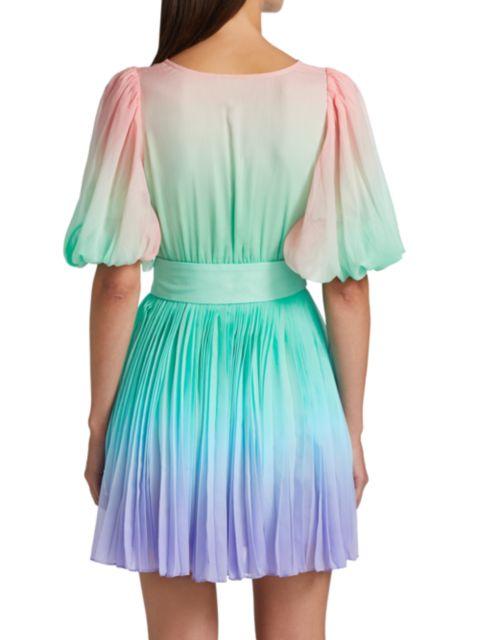 Rococo Sand Emi Ombre Pleated Mini Dress | SaksFifthAvenue