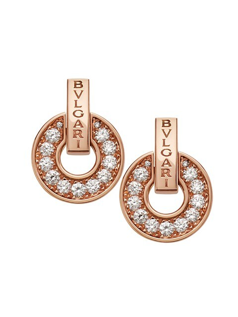 Essential 18K Rose Gold & Diamond Openwork Earrings