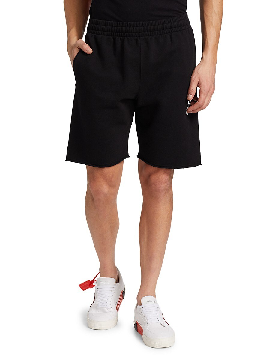 OFF-WHITE Cottons MEN'S MARKER SWEATSHORTS