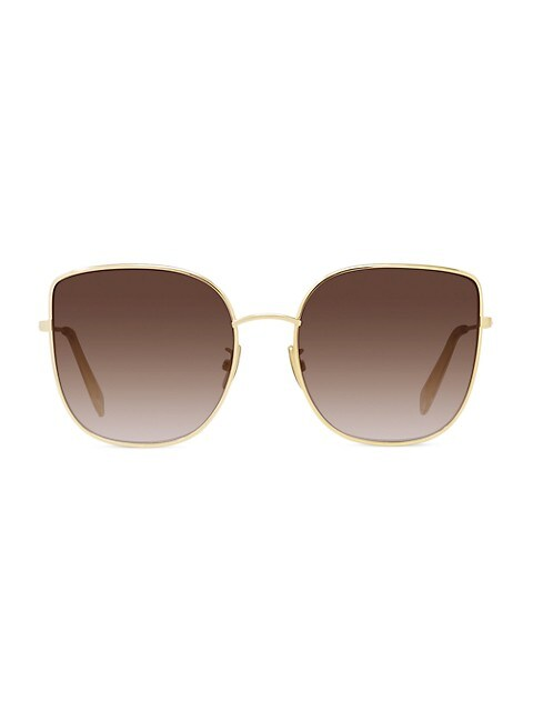 59MM Metal Cat Eye Sunglasses