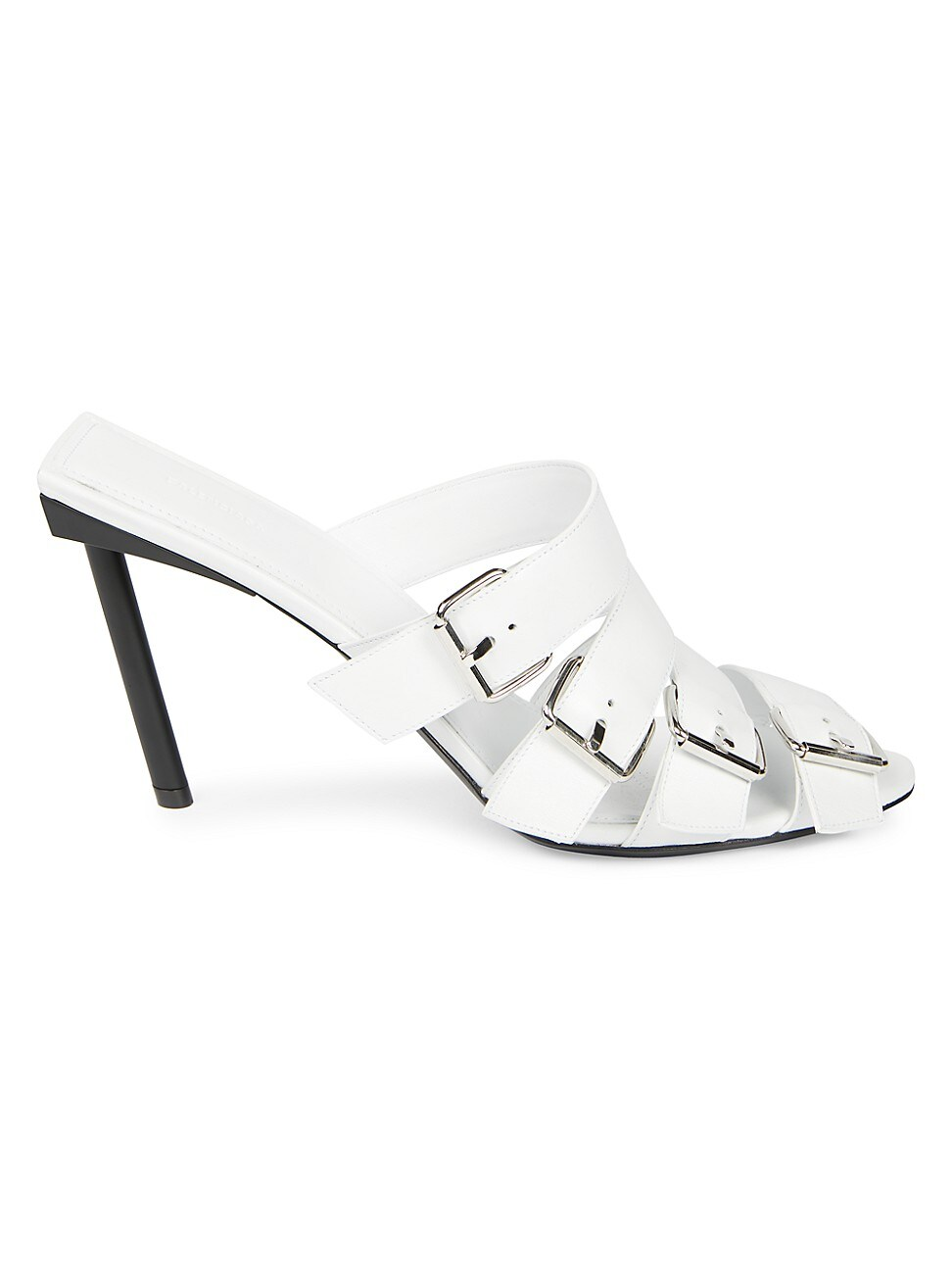 Balenciaga WOMEN'S BUCKLE LEATHER MULES