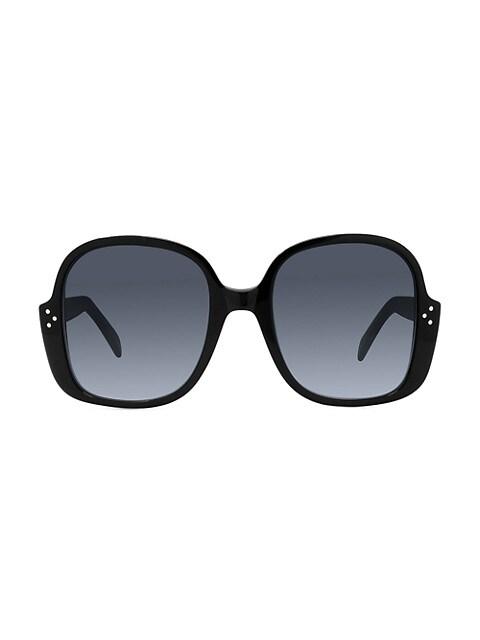 58MM Plastic Round Sunglasses