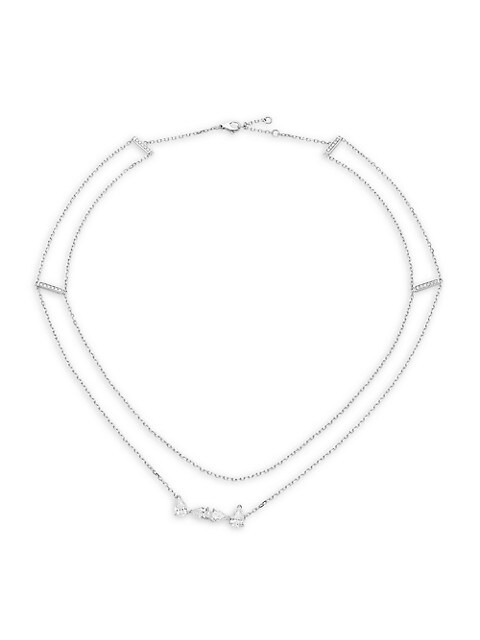 Luminant 18K White Gold & Diamond 2-Strand Necklace