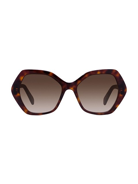 56MM Plastic Hexagonal Sunglasses