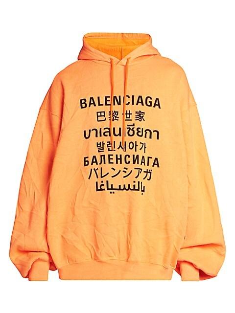 Multi-Languages Logo Bomber Hoodie