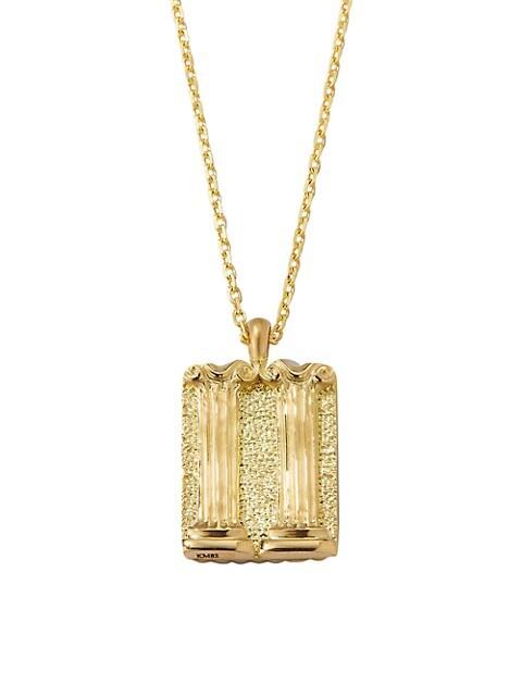Zodiac 18K Yellow Gold Reversible Gemini Pendant Necklace
