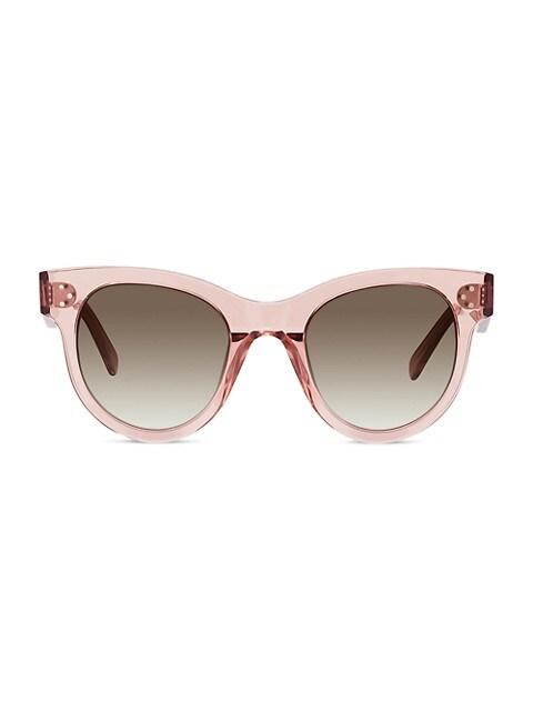 50MM Rectangular Plastic Sunglasses