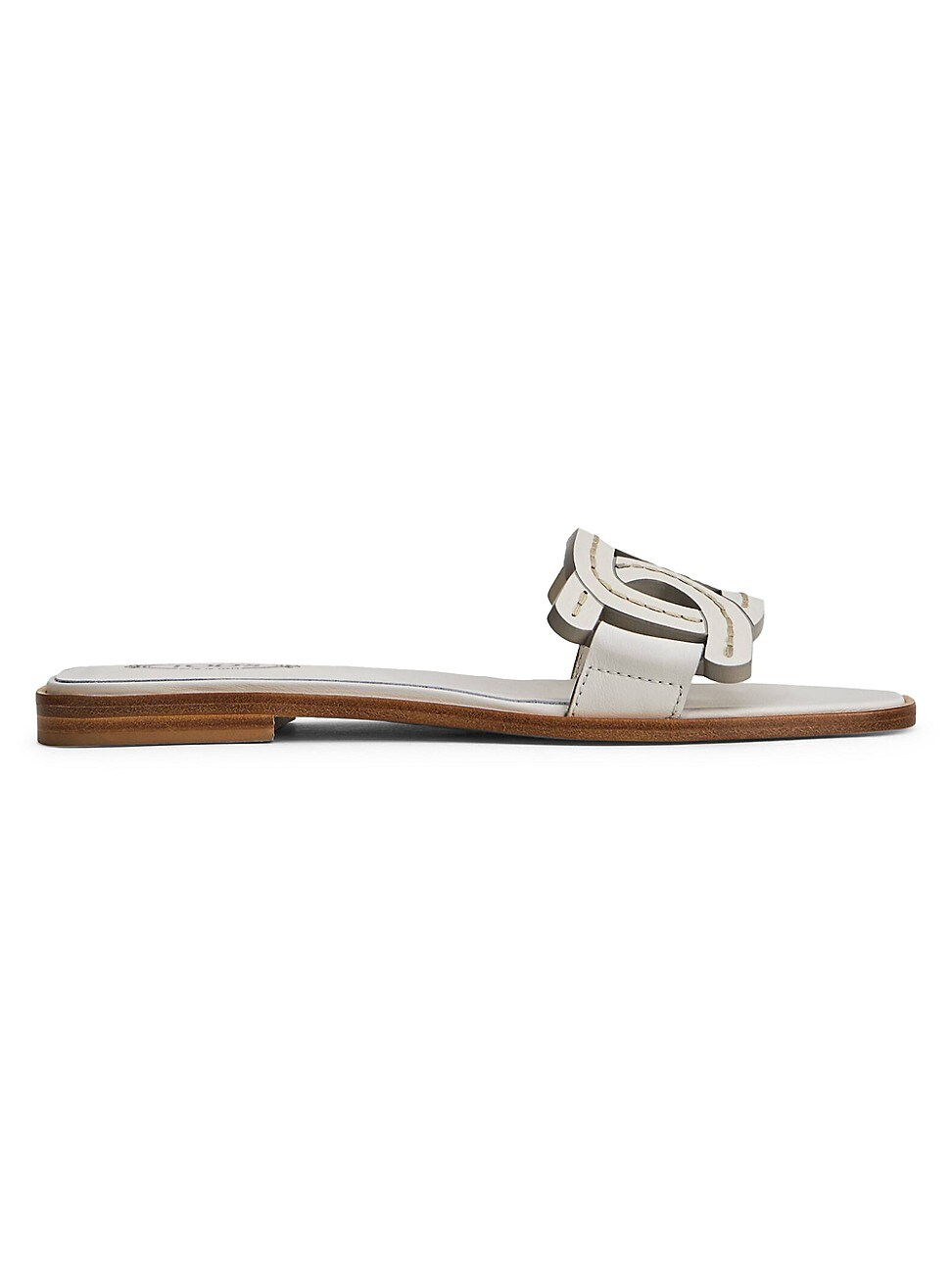 Tod's WOMEN'S KATE LEATHER SLIDES