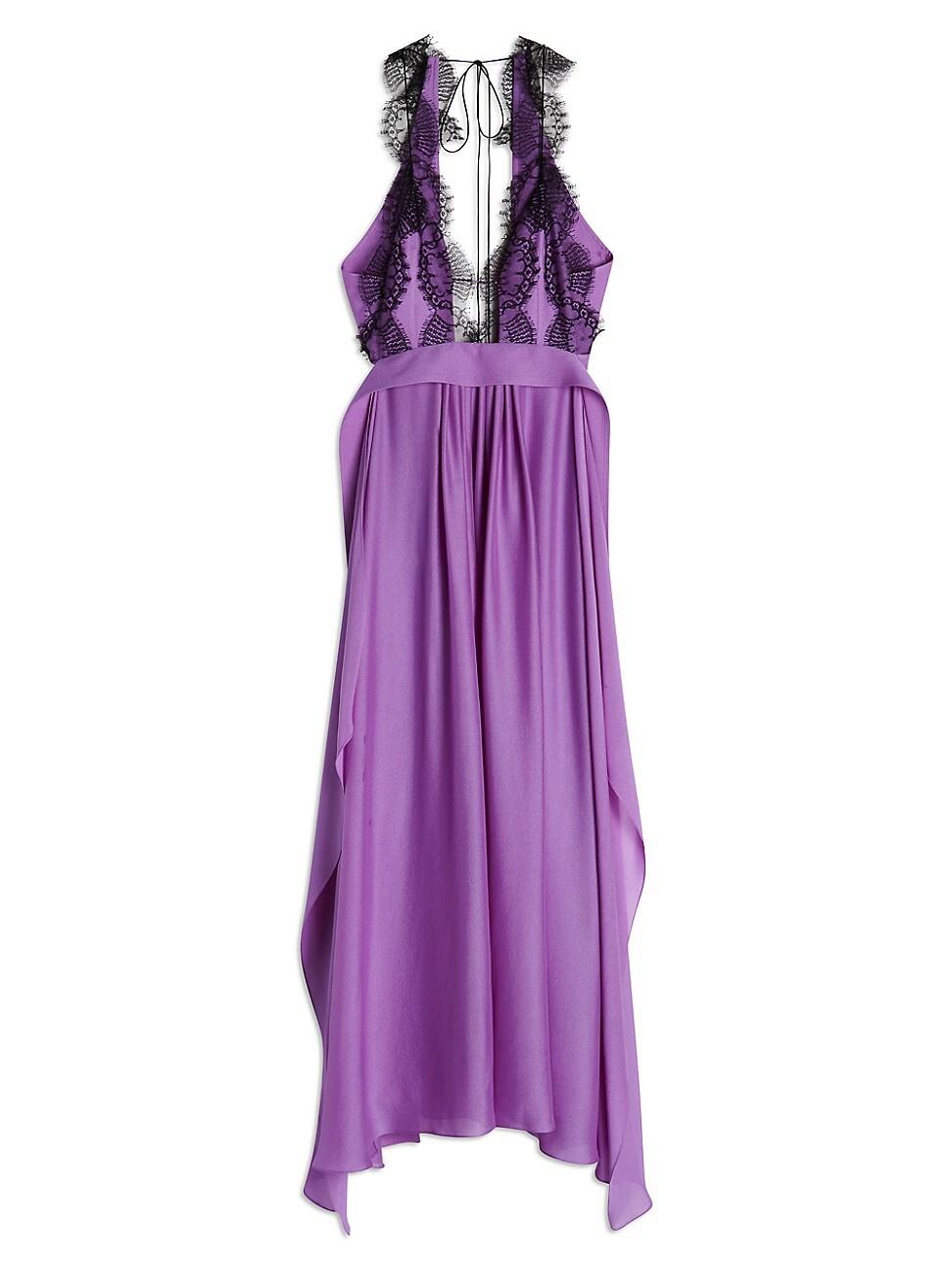 Victoria Beckham WOMEN'S LACE-TRIMMED SILK CAMI DRESS
