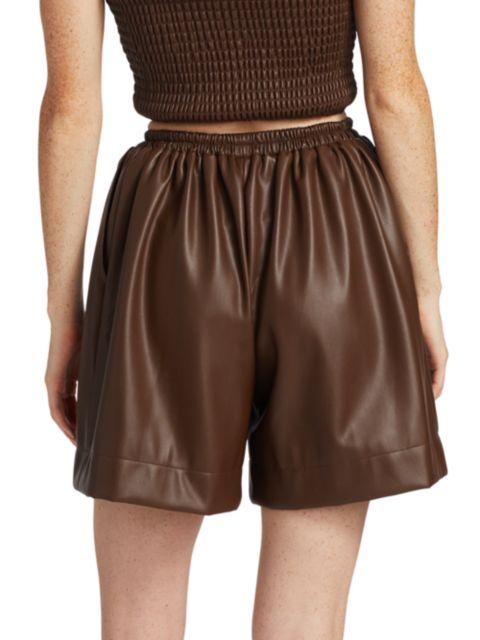 Staud Clark Faux Leather Shorts | SaksFifthAvenue