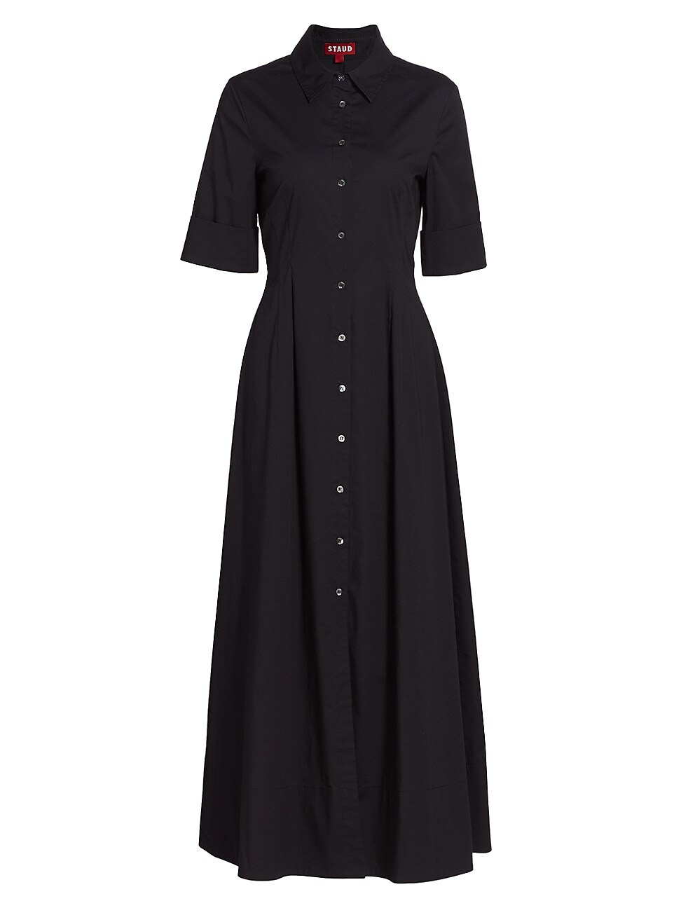Staud WOMEN'S JOAN COLLARED MAXI SHIRTDRESS