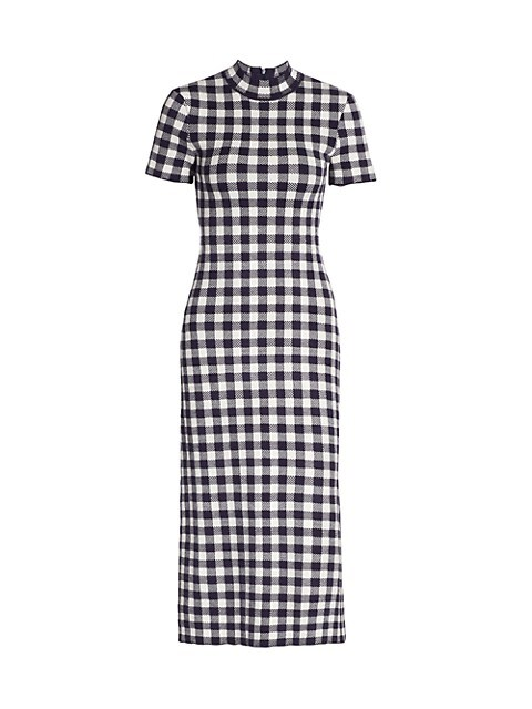 Heli Gingham Short-Sleeve Dress