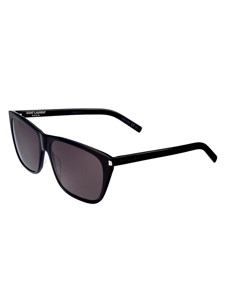 SAINT LAURENT Sunglasses MEN'S CLASSIC 57MM RECTANGULAR SUNGLASSES