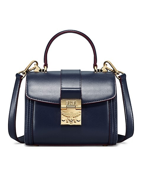 Small Tracy Leather & Suede Satchel