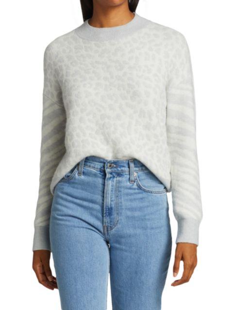 Rails Lana Leopard & Zebra Wool & Cashmere-Blend Sweater | SaksFifthAvenue
