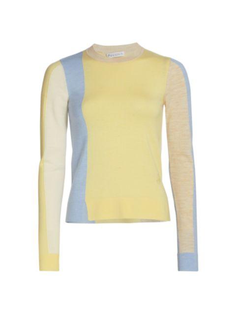 JW Anderson Colorblock Crewneck Sweater | SaksFifthAvenue