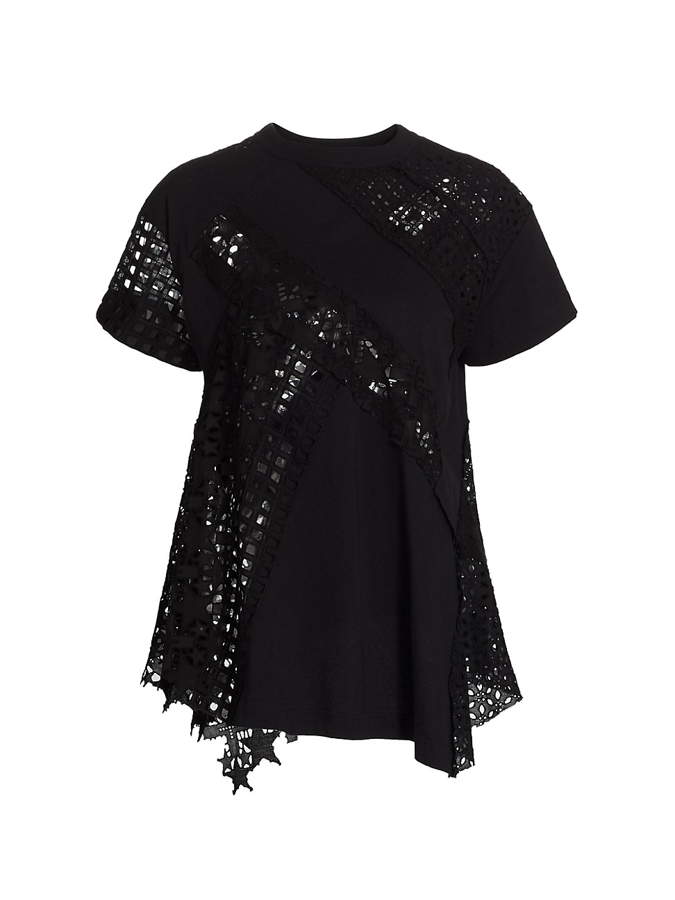 Sacai WOMEN'S EMBROIDERED LACE PULLOVER
