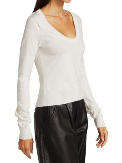 Frame Luxe U-Neck Sweater   SaksFifthAvenue