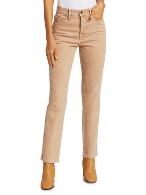 Frame Le Sylvie High-Rise Crop Straight Jeans | SaksFifthAvenue