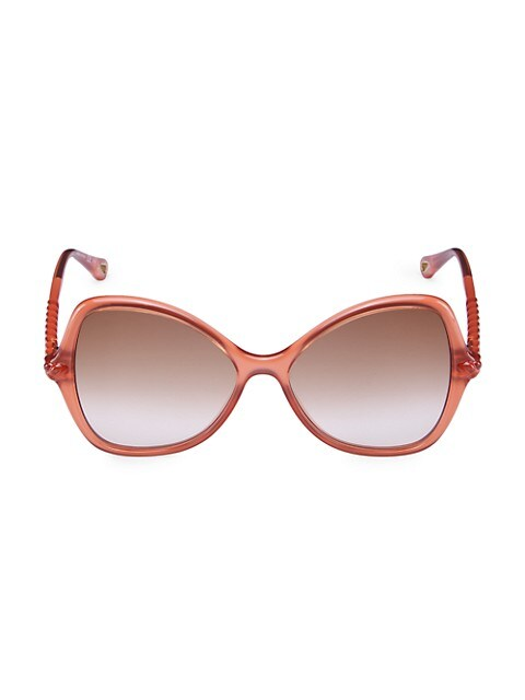 Chloé Pink 56MM Butterfly Sunglasses