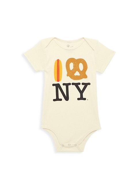 Baby's Hot Dog Pretzel NY Bodysuit