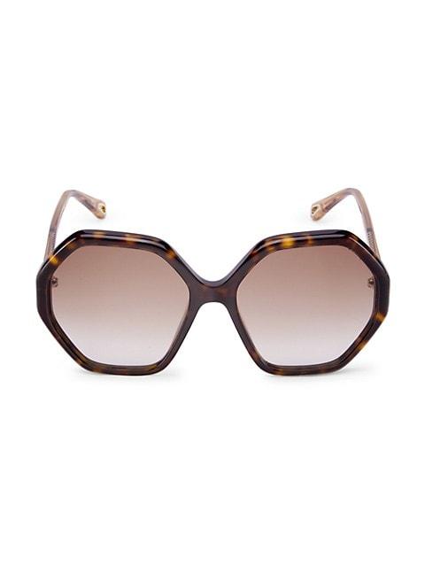 58MM Geometric Sunglasses