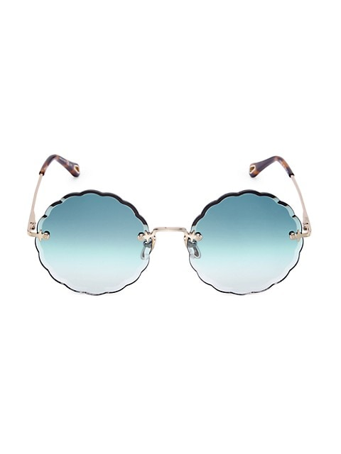 60MM Round Scalloped Sunglasses