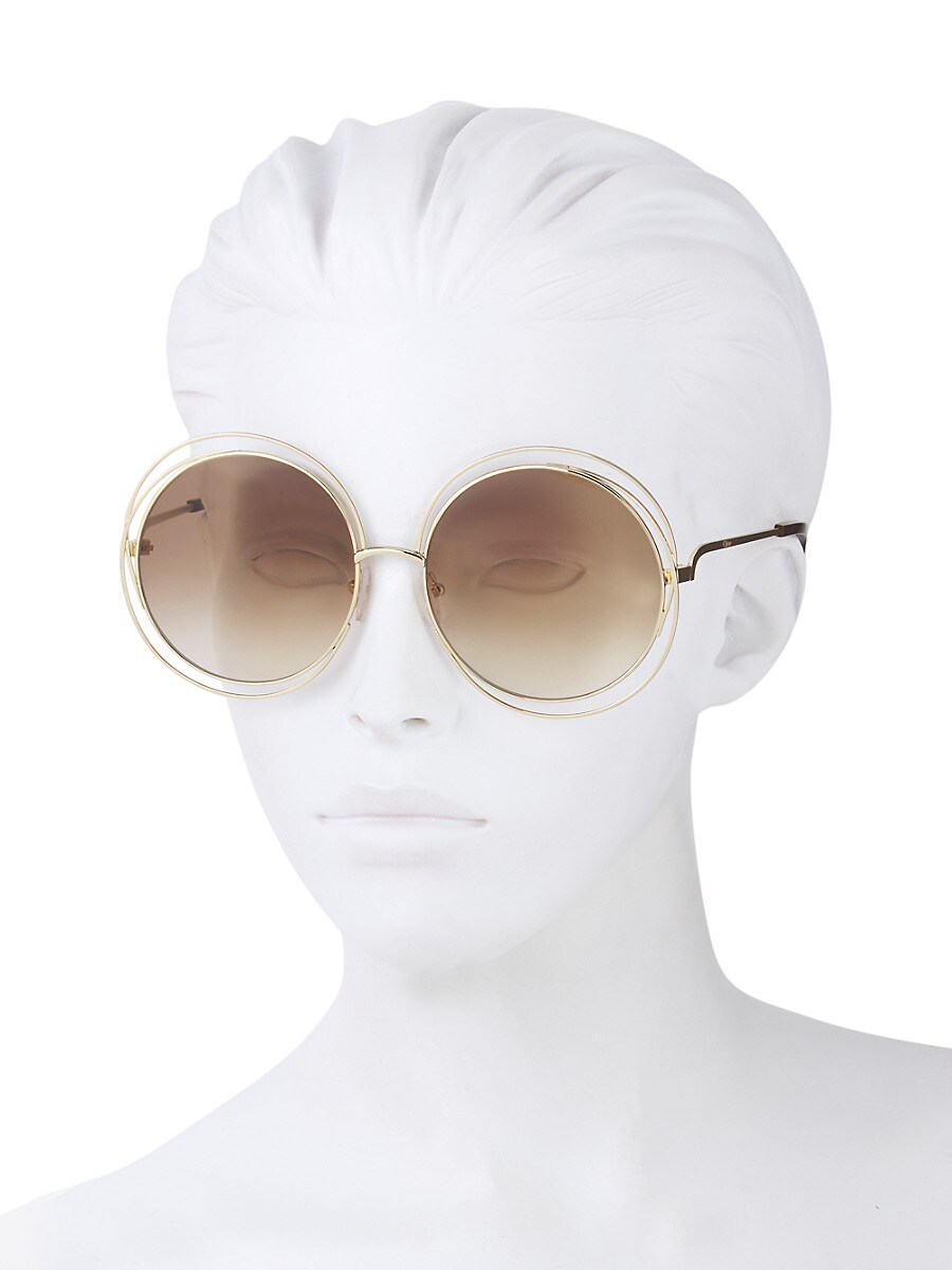 CHLOÉ Sunglasses WOMEN'S 62MM ROUND SUNGLASSES