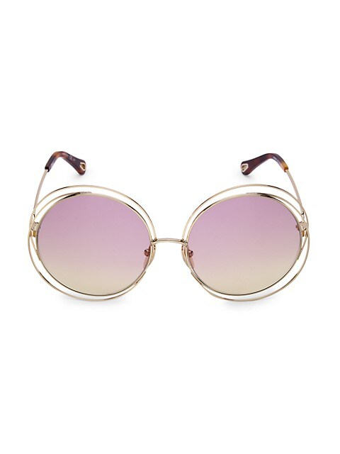 62MM Round Sunglasses