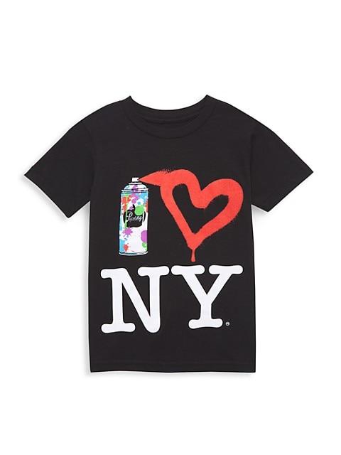 Little Kid's & Kid's Spray Paint NY T-Shirt
