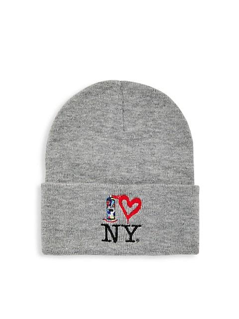 Spray Paint Heart NY Knit Beanie